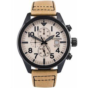 Citizen Men's Quartz Watch w/ Tan Strap